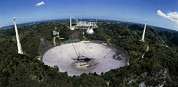 Arecibo Prints - Upgraded Arecibo Radio Telescope With Subreflector Print by David Parker