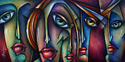 Distorted Painting Posters - Urban Expressions Poster by Michael Lang