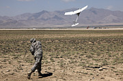 Logar Prints - U.s. Army Soldier Launches An Rq-11 Print by Stocktrek Images