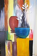 Abstract Realism Paintings - 3 Vases by Gary Smith
