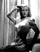 Puffy Sleeves Framed Prints - Veronica Lake, Portrait Framed Print by Everett