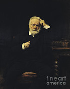 Hugo Framed Prints - Victor Hugo, French Author Framed Print by Photo Researchers