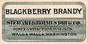 Brandy Digital Art Posters - Vintage Medicine Label Poster by Circa