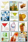 Apple Martini Posters - Vodka Poster by Laura Toth
