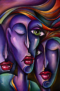 Couples Painting Metal Prints - Waiting Metal Print by Michael Lang
