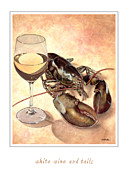 White Wine Paintings - White wine and tails... by Will Bullas