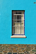 Turquois Posters - Windows of Bo-Kaap Poster by Benjamin Matthijs