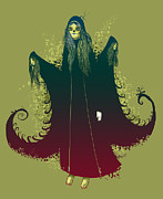 Goth Prints - 3 Witches Print by Michael Myers