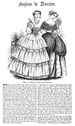 Decolletage Posters - Womens Fashion, 1851 Poster by Granger