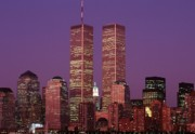 Twin Towers Trade Center Posters - World Trade Center Twin Towers Poster by Antonio Martinho