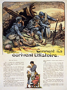 French Home Framed Prints - World War I: French Poster Framed Print by Granger