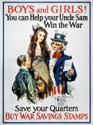 James Montgomery Prints - World War I: U.s. Poster Print by Granger