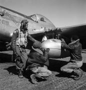 Leather Prints - Wwii: Tuskegee Airmen, 1945 Print by Granger