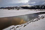 Wyoming Digital Art - Yellowstone Park Wyoming Winter Snow by Mark Duffy