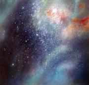 Outer Space Painting Framed Prints - 30 Doradus Nebula Framed Print by Allison Ashton