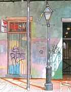 Mardi Gras Pastels Prints - 30  French Quarter Graffiti  Print by John Boles