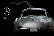 Mercedes Benz 300 Sl Classic Car Prints - 300 Sl Print by Dennis Hedberg