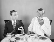 Necktie Framed Prints - Film Still: Eating & Drinking Framed Print by Granger