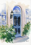 Entrance Door Painting Framed Prints - 318 Framed Print by Marsha Elliott
