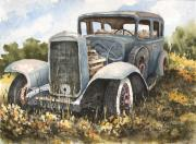Car Paintings - 32 Buick by Sam Sidders