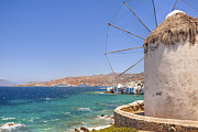 Windmills Framed Prints - Mykonos Framed Print by Joana Kruse