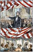 Lincoln Speech Posters - Abraham Lincoln Poster by Granger