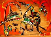 Love The Animal Painting Prints - Jazz Print by Mark Kazav