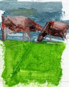 Cows Paintings - RCNpaintings.com by Chris N Rohrbach