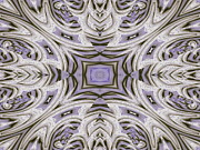 Purple Kaleidoscopes. Posters - Tunnel Poster by Michele Caporaso