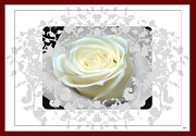 Invitations Mixed Media Framed Prints - Wedding Rose Collection  Framed Print by Debra     Vatalaro