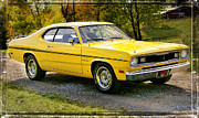 Mopar Metal Prints - 340 Duster Metal Print by Thomas Schoeller