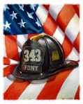 Firefighter Framed Prints - 343 Framed Print by Paul Walsh