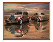 1935 Buick Prints - 35 Buick Print by John Breen