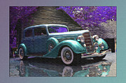 1935 Buick Prints - 35 Buick Teal Print by John Breen