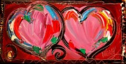 Black History Paintings - Hearts by Mark Kazav