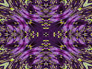 Flower Kaleidoscopes Framed Prints - Pansy Framed Print by Michele Caporaso