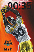 Pittsburgh Steelers Paintings - 35 Seconds by David Courson