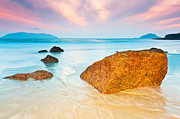 Beach View Prints - Sunrise Print by MotHaiBaPhoto Prints