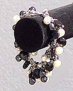 Swarovski Crystals Jewelry - Black And  White Reflection by Eleanor Love
