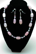 Floral Jewelry - 3558 Rose Quartz Set by Teresa Mucha