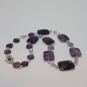 Coin Jewelry - 3575 Amethyst Necklace by Teresa Mucha