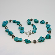 Original Handmade Jewelry Jewelry - 3599 Turquoise Necklace by Teresa Mucha