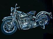 Motorcycle Pastels - 36 Harley Motorcycle by Matthew  Thornburg