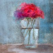 Red Flower Paintings - RCNpaintings.com by Chris N Rohrbach