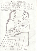 Save The Girl Child Drawings - 36 by Roshni Rajani