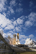 Space Travel Art - Space Shuttle Atlantis Lifts by Stocktrek Images