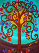Turkus Framed Prints - Tree Of Life Framed Print by Pristine Cartera Turkus