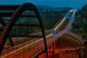 360 Bridge Morning Traffic Print by Lisa  Spencer