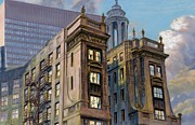Chicago Landmark Paintings - 360 North by Rick Clubb