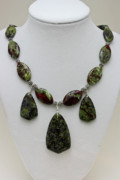 Semi Precious Jewelry - 3602 Dragons Blood Jasper Necklace by Teresa Mucha